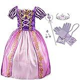 IWFREE Déguisement Fille Robe de Princesse Raiponce Baby Rapunzel Deguisement Conte de...