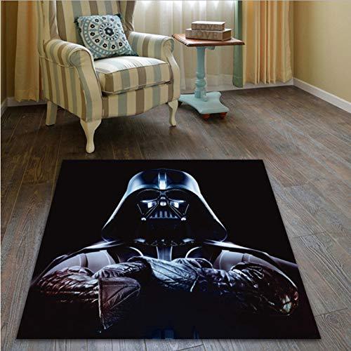 lili-nice Alfombras De Área Alfombra Grande De Star Wars Hero Alfombra De Felpudo Alfombra De Habitación Dormitorio Cocina Sala De Estar Alfombra Antideslizante Alfombra 80x120cm