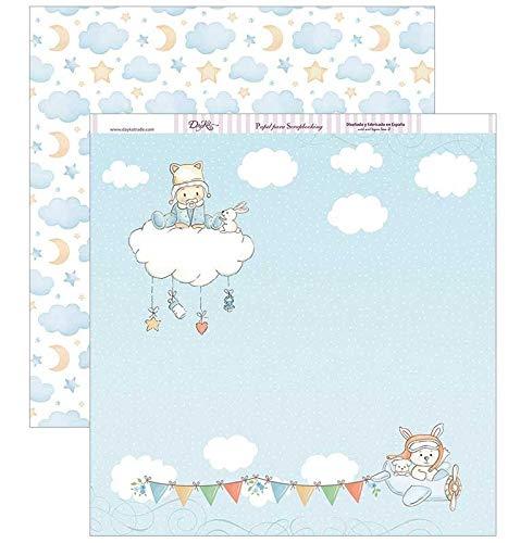 Dayka Packe de 12 Papeles Bebé en nube 30x30cm
