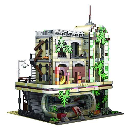 CT-Tribe Bausteine Architektur Modell, Ruinen Restaurant Modular Architektur Modell mit 2392 Teile, Kompatibel...
