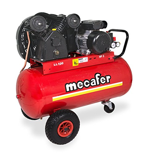Mecafer - Compresseur d'air 100L en fonte, 3hp