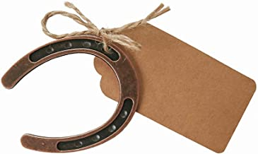 Dzty 25pcs Good Lucky Horseshoe Wedding Favors for Guests Rustic Horseshoes Gift Tags with String Vintage Wedding Decorations Party Favors