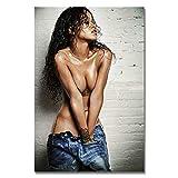 Rihanna Girl Star Singer Wandaufkleber Leinwand Malerei