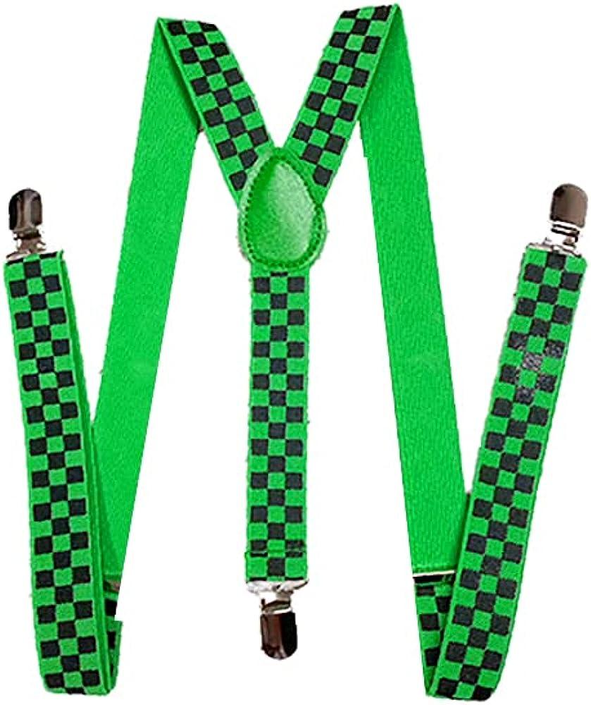 Men's Y-shaped Checkered suspender with adjustable straps (Unisex)