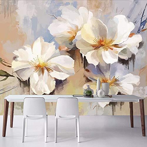 Lifme Moderno Minimalista 3D Crisantemo Muro Di Mattoni Retrò Floreale Murale Soggiorno Camera Da Letto Non Tessuto Impermeabile Murale Carta Da Parati Murale-350X250Cm