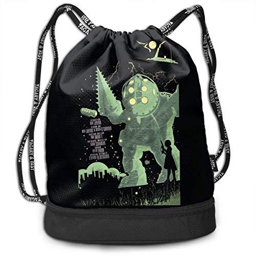 Rucksäcke,Sporttaschen,Turnbeutel,Daypacks, Bioshock Drawstring Bag Bundle Backpack Tour Backpack for Teens College