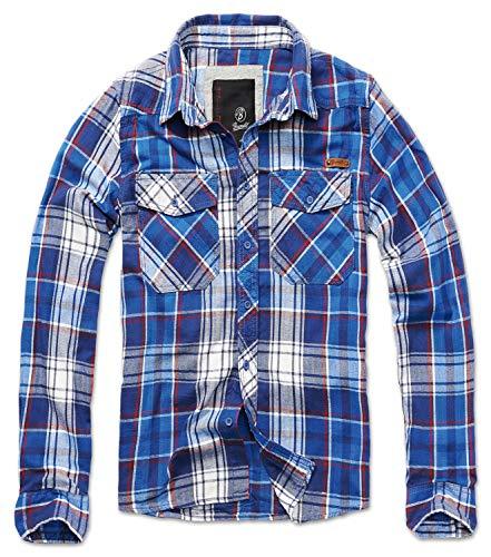 Brandit Check Shirt Herren Baumwoll Hemd XL Blau