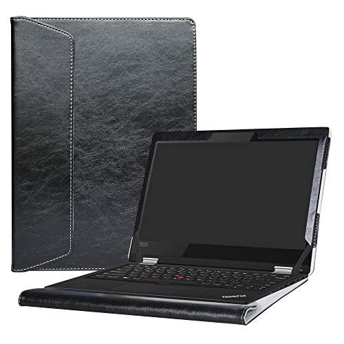 Alapmk Specialmente Progettato PU Custodia Protettiva in Pelle per 13.3' Lenovo ThinkPad L380 Yoga/L390 Yoga/ThinkPad L380 L390 & Lenovo ThinkPad 13 Chromebook/ThinkPad 13 Laptop,Nero