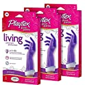 3-Pack Playtex Living Reuseable Rubber Cleaning Gloves, Medium