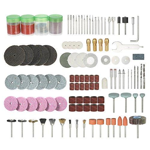 Tickas 166PCS 1/8'' Shank Rotary Tool Accessories Set Sanding Polishing Grinding Cutting Accessory Bit,Rotary Tool
