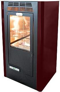 Tecno Air System Ruby Compact Independiente Bioetanol Negro, Burdeos - Estufa (Independiente, Negro, Burdeos, Cerámico, 5 L, LCD, Botones)