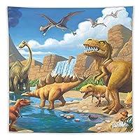 アドベンチャー恐竜 タペストリー壁掛けリビングルーム寝室寮部屋家の装飾ポスター
