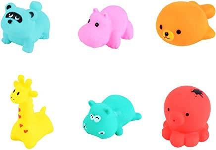 Zoo Bath Toys,Hamkaw 12 Pcs Kids Bathtub Toy with Sound Multiple Colour Animals Toddler Pool Bathroom Shower Water Floating Toy Game Funny Birthday Gift for Baby Girls Boys Children