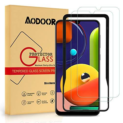 AODOOR Vetro Temperato per Samsung Galaxy A50 / M30s, [2 Pack] Pellicola Protettiva in Vetro [Anti graffio] Protezione Schermo [Anti-Impronte] Screen Protector per Galaxy A30S/A20S/A50S/A30