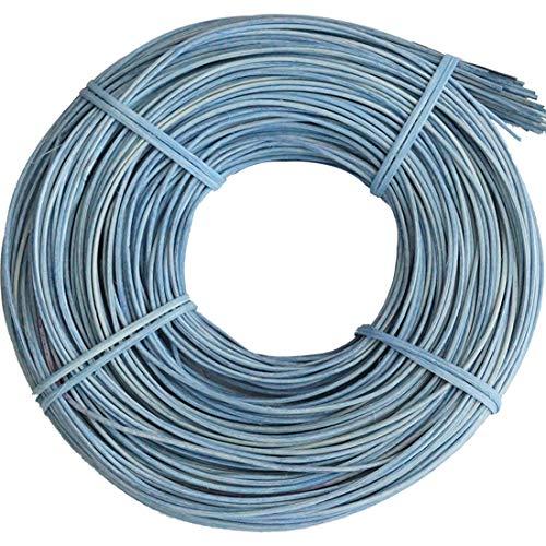 famos Tubería de rota / material trenzado 2 mm/aprox. 250 g (azul claro).