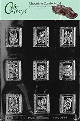 Cybrtrayd Life of the Party AO023 Stamps All Occasions Chocolate Candy Mold in Sealed Protective Poly Bag Imprinted with Copyrighted Cybrtrayd Molding Instructions
