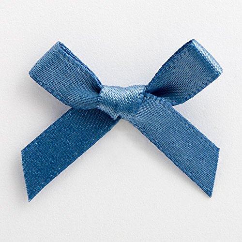 Italiaanse opties 3cm satijnen linten strikken - 100 Pack - rook blauw