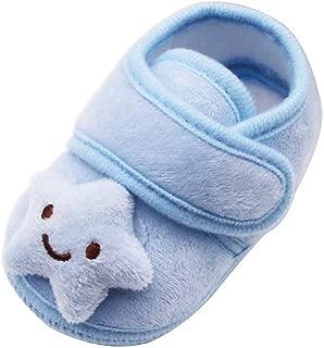Sunward 0-18 Months Infant Newborn Baby Girls Plush Stars Cloud Winter Boots Soft Sole Warm Shoes