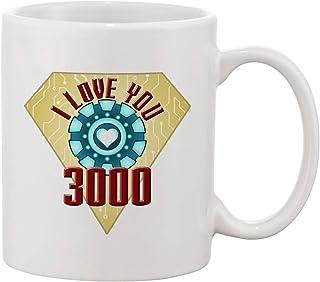 Ceramic Coffee Mug - I Love You 3000 Metal Heart Reactor Film Parody