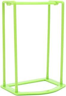 SHISIDE 洗濯ハンガー収納ラック ハンガー収納 組み立て 滑り止め デスクトップ 浴室 家庭用 緑