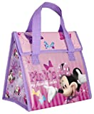 Zak! Designs Insulated Lunch Bag with Velcro Closure featuring Minnie Mouse's Favorite Color, Reusable and BPA-free