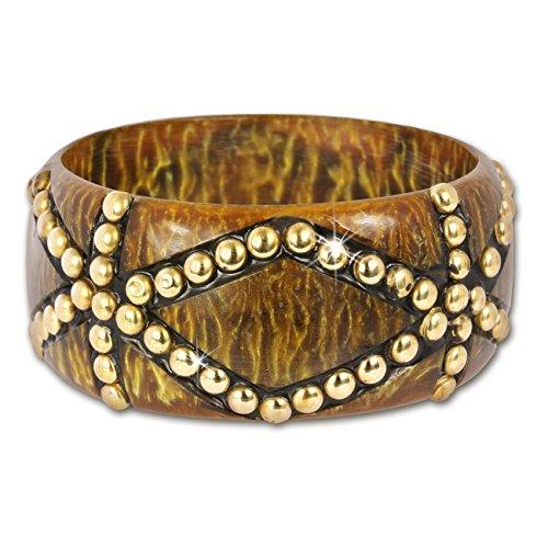 SilberDream Armreif Muster braun/Gold, Armreifen für Damen RAV228Y