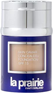 Skin Caviar Concealer Foundation SPF15 New Packaging by La Prairie Foundation Concealer 2g -Shade: Creme Peche 30ml