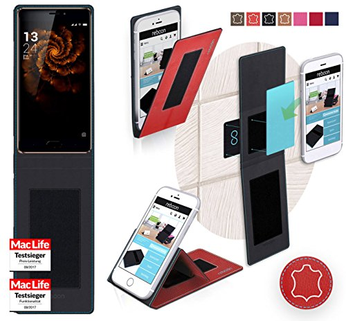 reboon Hülle für Allview X3 Soul Pro Tasche Cover Case Bumper | Rot Leder | Testsieger