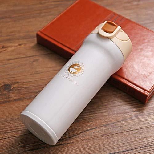WSHP-Mug Personalizzata Regalo Interessante Bicchieri Thermos In Acciaio Inossidabile Thermos Thermos Bicchiere Vuoto Boccetta Garrafa Termica Thermo Tazze Da Caffè Tazza Da Viaggio Tazza, Bianco-Beig