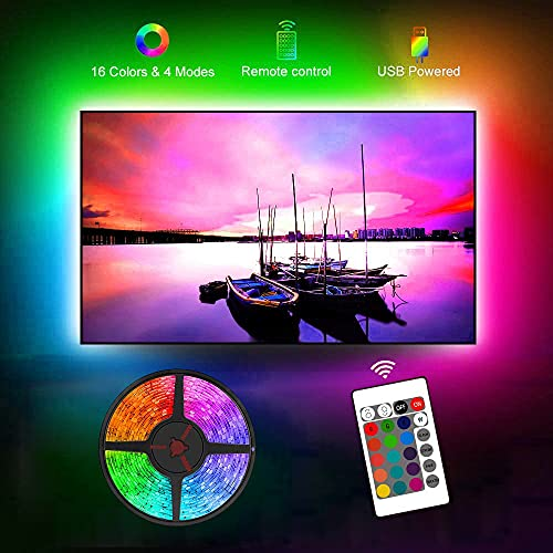 USB TV Backlight, 8.2ft TV Light Strip for 40-60 inch TV/Monitor Backlight, SMD 5050 USB LED Light...