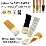 20PCS (5 Sets) Chair Socks Fancy Table Leg Pads with Cute Cat...