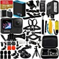 GoPro HERO9 (Hero 9) Action Camera (Black) with Premium Accessory Bundle – Includes: SanDisk Extreme 32GB microSD Memory Card, Underwater Rechargeable LED Light, Protective Carrying Case, Much More from GoPro