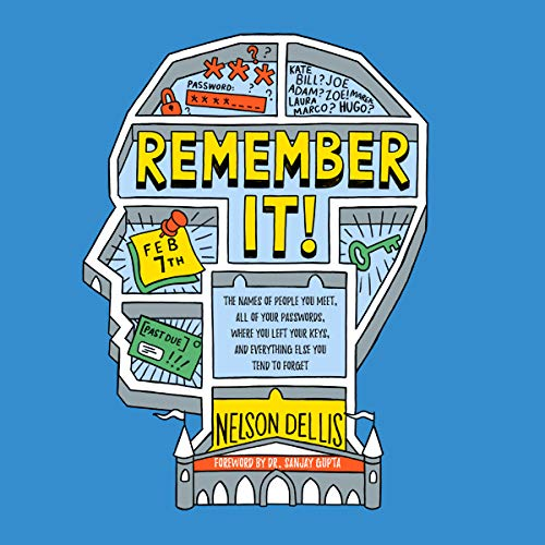 Remember It!     The Names of People You Meet, All of Your Passwords, Where You Left Your Keys, and Everything Else You Tend to Forget              By:                                                                                                                                 Nelson Dellis,                                                                                        Sanjay Gupta MD - foreword                               Narrated by:                                                                                                                                 Matthew Josdal                      Length: 6 hrs and 48 mins     Not rated yet     Overall 0.0