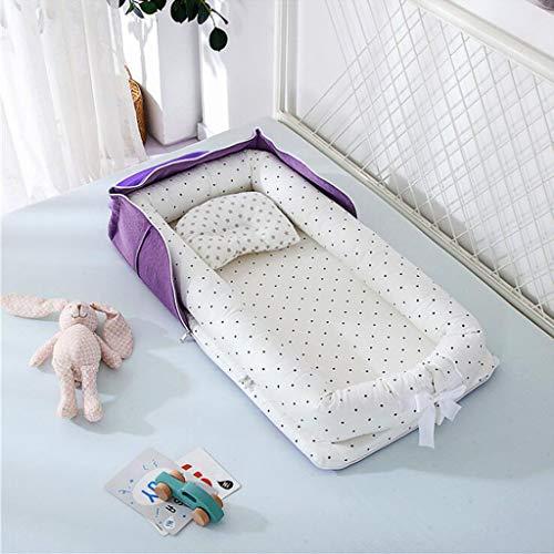 FuncDEme Nido Plegable del bebé, del niño del sueño de la Vaina, del Recién Nacido para Elegir el colecho, Transpirable 100% algodón, Cuna portátil para el Dormitorio/Viajes (2)
