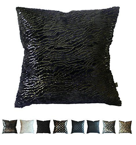 Kdays Concepteur de la couverture oreiller taie d'oreiller 18 x 18 pouces Sequin de fourrure