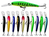 10pcs/lot Hard Minnow Fishing Lures Bait Life-Like Swimbait Bass Crankbait for Pikes/Trout/Walleye/Redfish Tackle