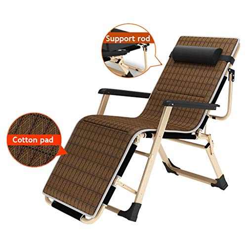 AYHa Taburete de jardín al aire libre Patio tumbonas reclinables gravedad cero silla de playa Tumbona reclinable cómodo y transpirable máximo de carga 150Kg