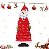 Sunshine smile Calendario de Adviento de Santa,Calendario adviento niños,Santa para Colgar en la Pared de Bolsillos,Calendario 2020 2021,Calendario Pared,Calendario Pared Grande (B)