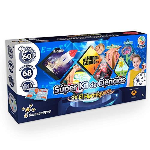 Science4you-Super Kit de Ciencias de El Hormiguero – Juguete Científico 60 Experimentos y un Libro Educativo, Regalo Original para Niños de 8 Años y más (80002755)