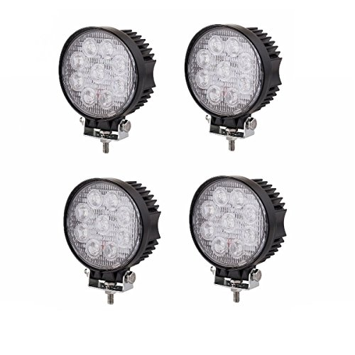 SAILUN 4X27W LED Faro da lavoro, Fari per fuoristrada Faro anteriore,IP67 Impermeabile 12V 24V Luce retromarcia, Trattore per auto SUV ATV UTV (4 * 27 W, rotondo)