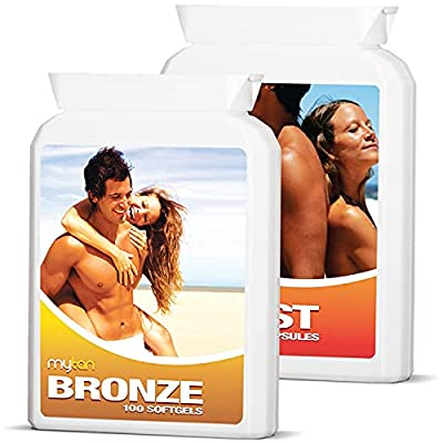 MyTan Ultimate Tanning Pack (Both Bronze & Boost) | 200 Sun Tan Tablets | Safe, Natural Tanning Supplement | Worldclass Tanning Pills