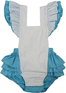 Wennikids Baby Girl's Summer Dress Clothing Ruffle Baby Romper