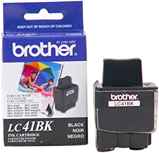 Brother LC41BK Ink Cartridge, 500 Page Yield, Black