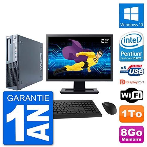 Lenovo PC M91p SFF Ecran 22' Intel G630 RAM 8Go Disque 1To Windows 10 WiFi (Reconditionné)