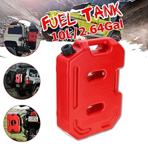 10L Brandstoftank gasfles Red Plastic Benzine Diesel Benzine Oil Containers Mount Auto Motor