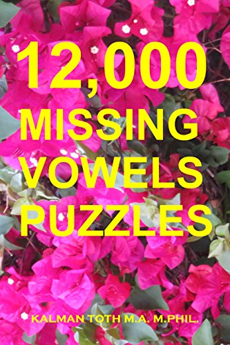 12,000 Missing Vowels Puzzles (English Edition)
