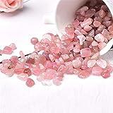 Cuarzo de rosa de cristal natural Mini rock Mini-Rock Modelery se puede utilizar para la decoración del hogar de piedra de acuario Regalo de bricolaje de Navidad ( Color : Rose Quartz , Size : 100g )