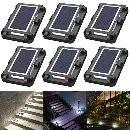 CLY Solar Bodenleuchten,20 LEDs Solarleuchten für Außen Garten, bodenleuchten außen led IP67 Wasserdicht, Led Solar Gartenleuchten dachrinnen, Fahrstraßen Gehweg