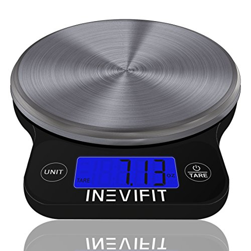 INEVIFIT DIGITAL KITCHEN SCALE, Highly Accurate Multifunction Food Scale 13 lbs 6kgs Max, Clean...