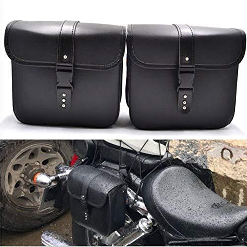 Saddlebags For Motorcycle Universal Leather PU Waterproof Saddlebags Softailfor Scooter Honda Suzuki Yamaha HD Street Sportster